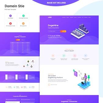 Progettazione dell'interfaccia utente web di dogeminer