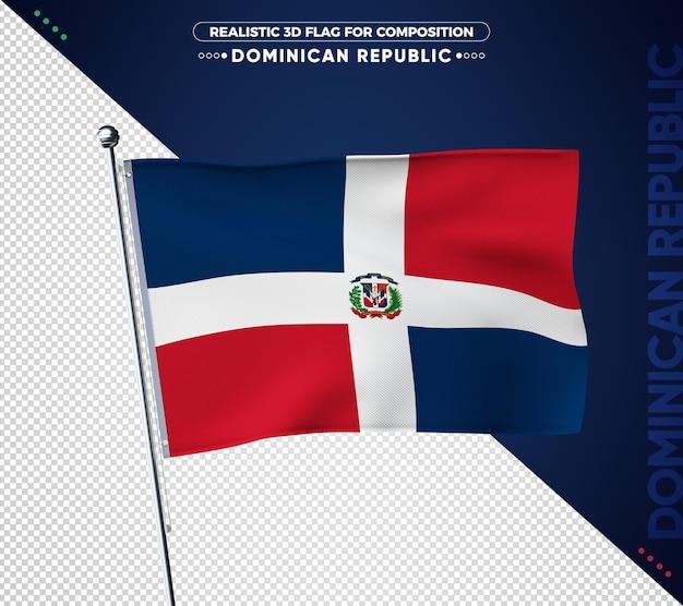 Bandiera della repubblica dominicana con texture realistica