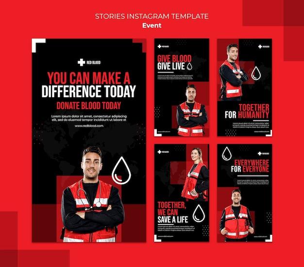 Dona il modello di storie di instagram di sangue