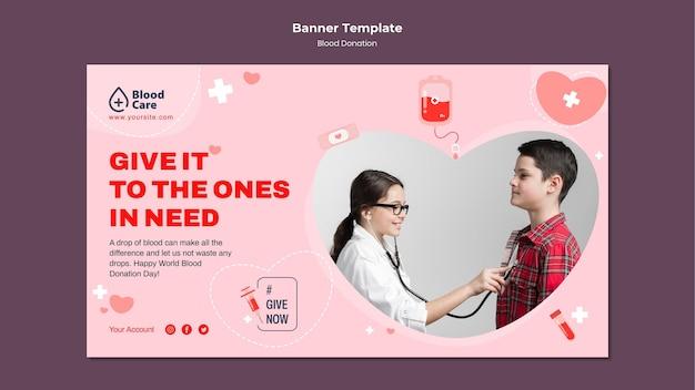 Banner orizzontale donazione di sangue