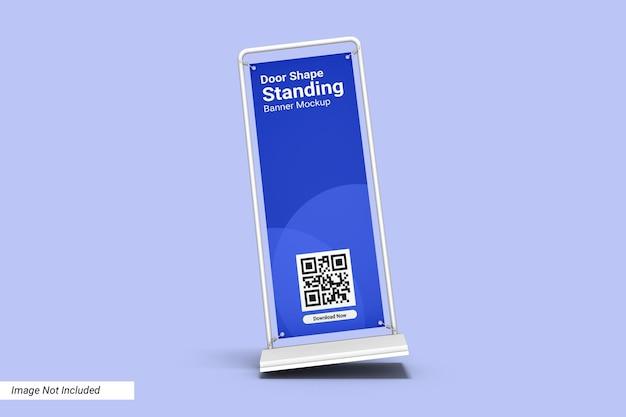 Porta forma in piedi banner mockup design isolato