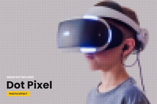 Modello di effetto foto pixel punto