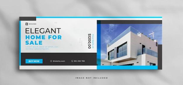 Casa dei sogni in vendita modello di copertina facebook immobiliare e banner web