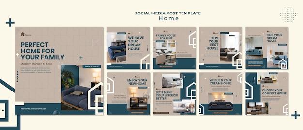 Post sui social media della casa dei sogni