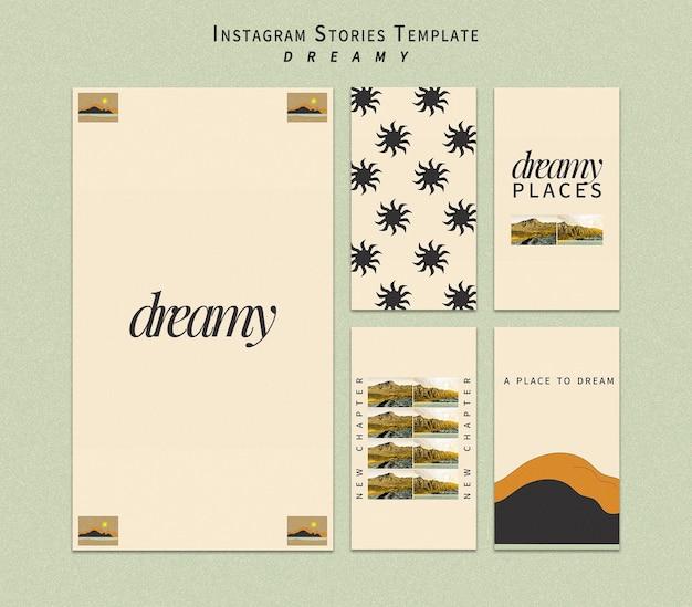 Modello di storie di instagram di luoghi da sogno