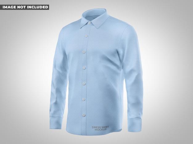 Mockup di camicia elegante vista a metà lato