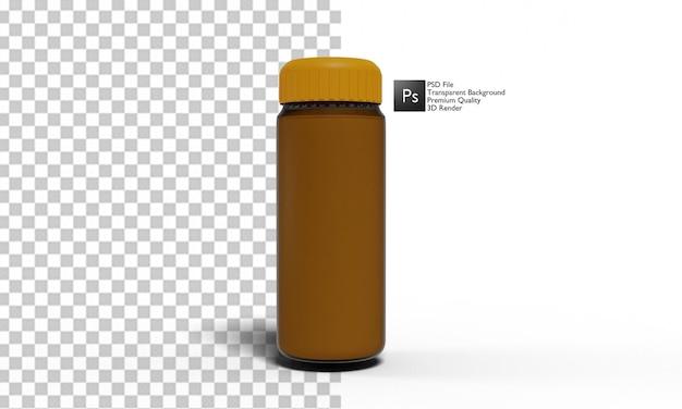 Bere bottiglia illustrazione 3d design
