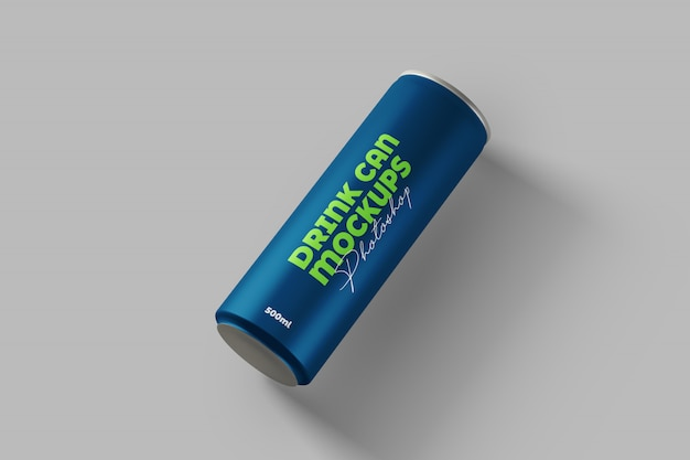 Drink can mockup 500ml