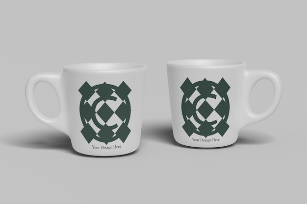 Bere tazza di caffè bianco tazza