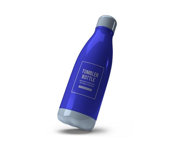 Bere bicchiere bottiglia mockup design