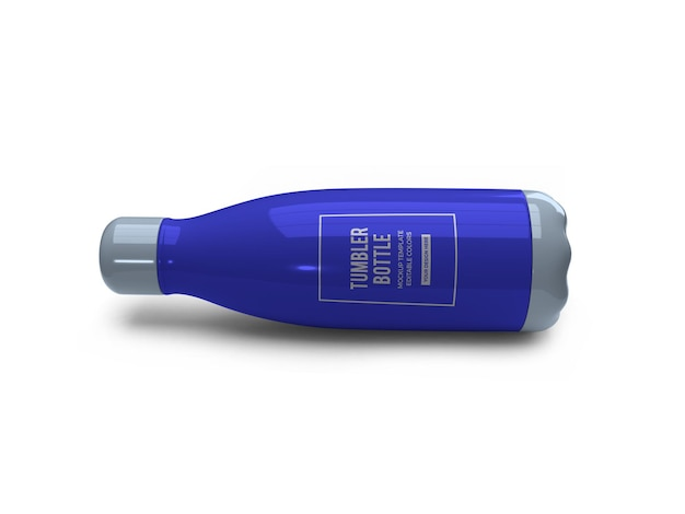 Mockup di bottiglia di bicchiere da bere
