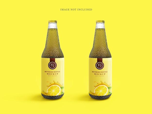 Bevande mockup di bottiglie di vetro per bevande