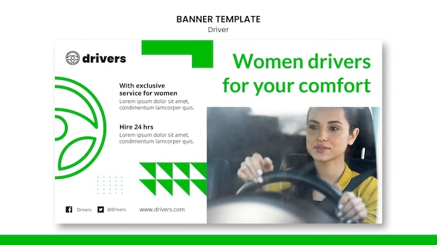 Modello di banner del driver