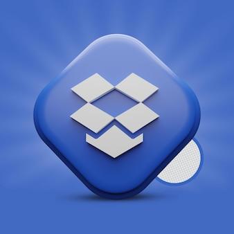 Icona di rendering 3d dropbox