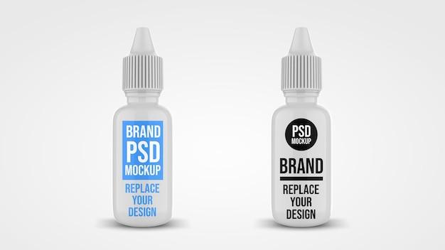 Bottiglia con contagocce 3d rendering mockup design