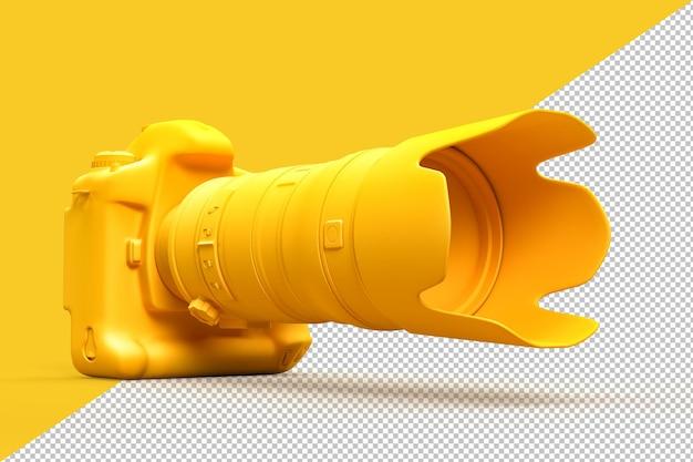 Fotocamera dslr con teleobiettivo zoom nel rendering 3d