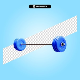 Manubrio 3d rende l'illustrazione isolata
