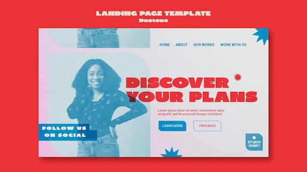 Modello di pagina di destinazione aziendale a due tonalità