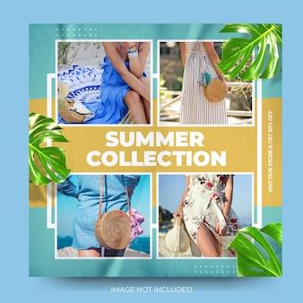 Feed di post di instagram di saldi estivi di moda dinamica