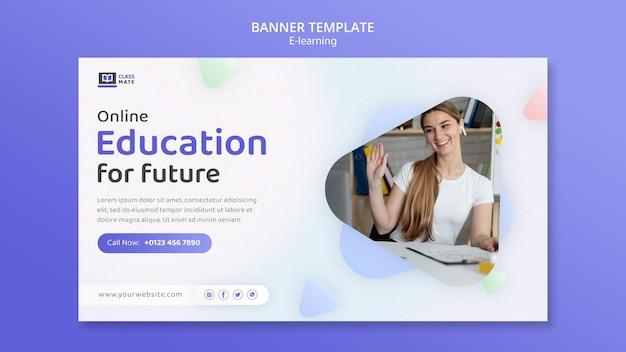 Modello di banner per l'e-learning