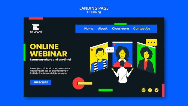 Modello di pagina di destinazione della piattaforma di e-learning