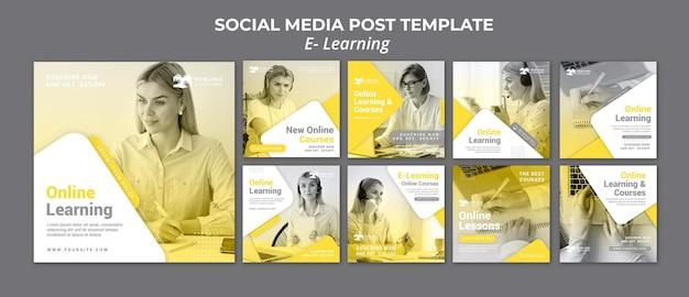 E learning post sui social media
