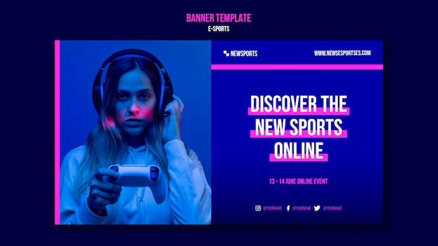 Modello di progettazione banner e-sport