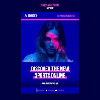 Modello di progettazione di poster di e-sport