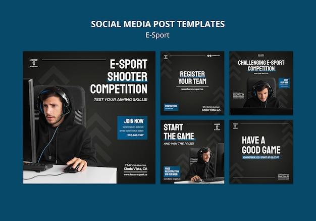 Post sui social media di e-sport