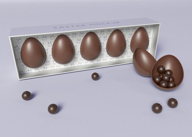 Pacchetto di uova di pasqua mockup