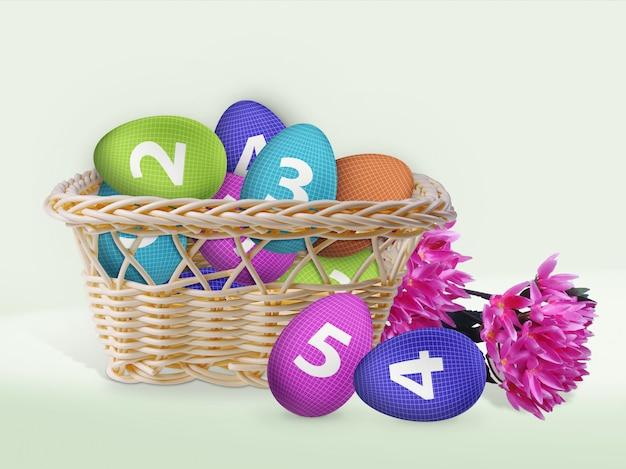 Cesto di uova di pasqua