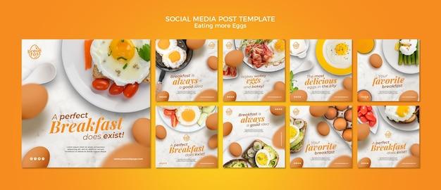 Mangiare più uova post sui social media