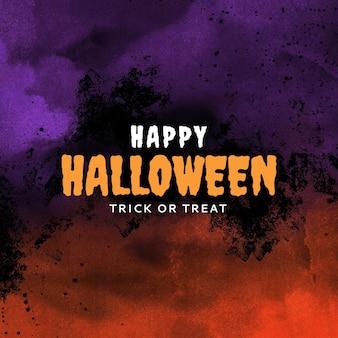 Modello modificabile per post sui social media di happy halloween