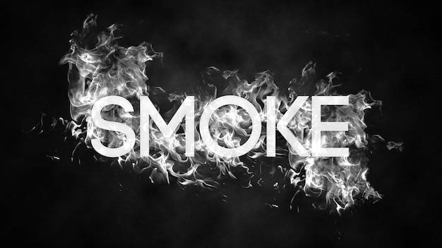 Modello psd effetto testo fumo modificabile