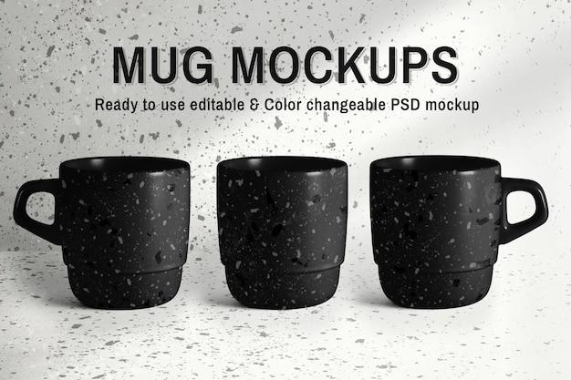 Annuncio di prodotto psd modificabile per tazza da terrazzo mockup