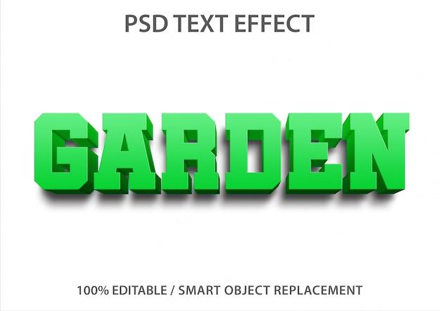 Giardino di effetti di testo modificabile