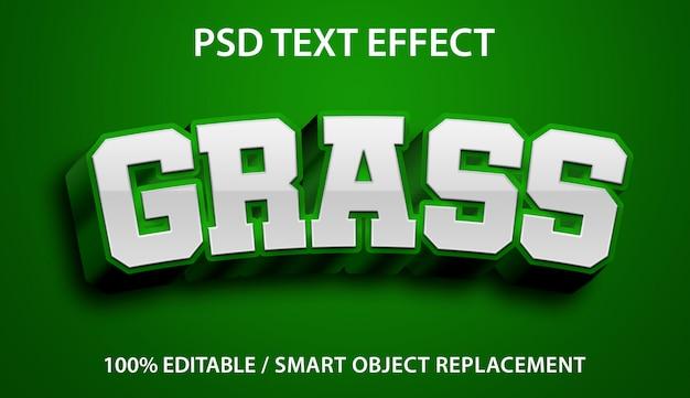 Testo modificabile effetto erba verde