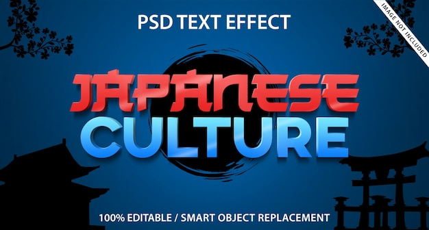 Cultura giapponese di effetto testo modificabile