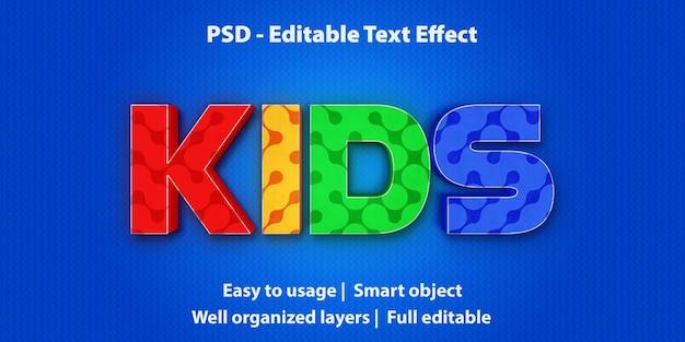 Effetto testo modificabile kids premium