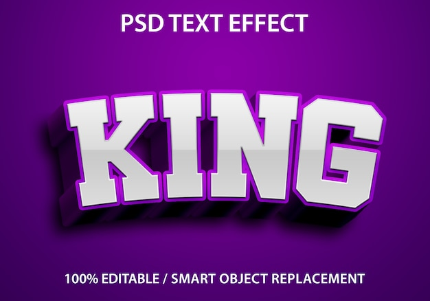 Effetto di testo modificabile king purple