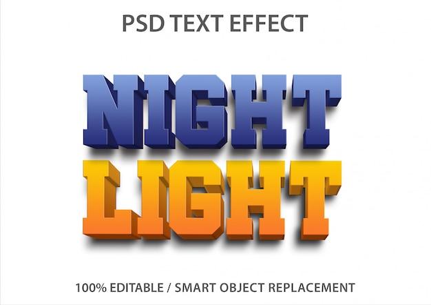 Luce notturna effetto testo modificabile