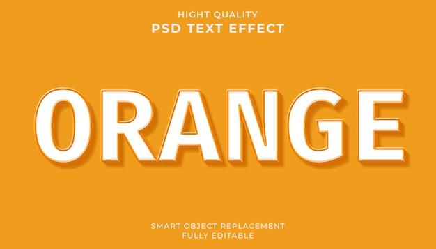 Effetto di testo modificabile. stile di testo arancione