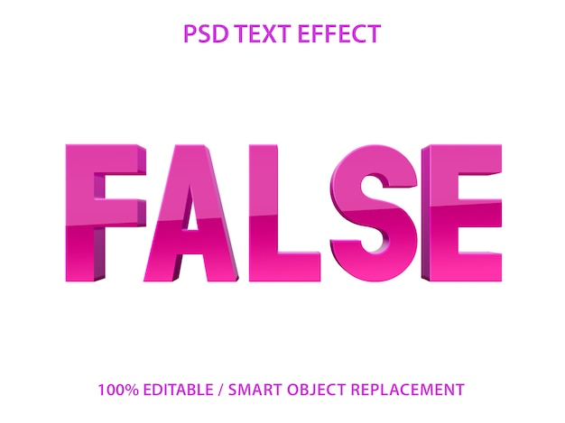 Effetto di testo modificabile purple false premium