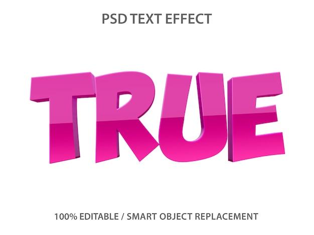 Effetto testo modificabile viola vero