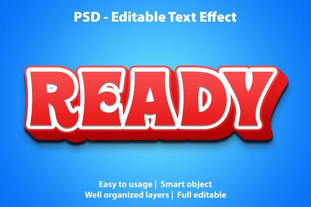Pronto per l'effetto di testo modificabile