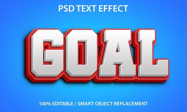Obiettivo rosso effetto testo modificabile