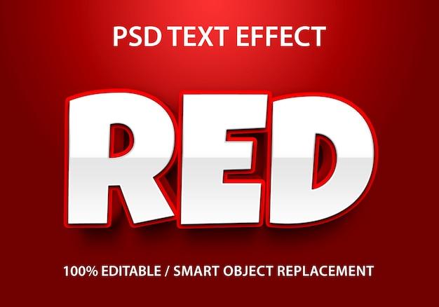 Effetto di testo modificabile rosso premium