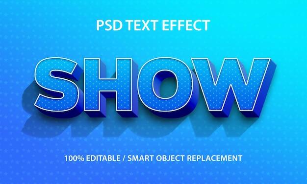 Effetto di testo modificabile mostra premium