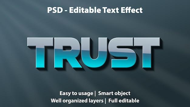 Trust modificabile con effetto testo modificabile