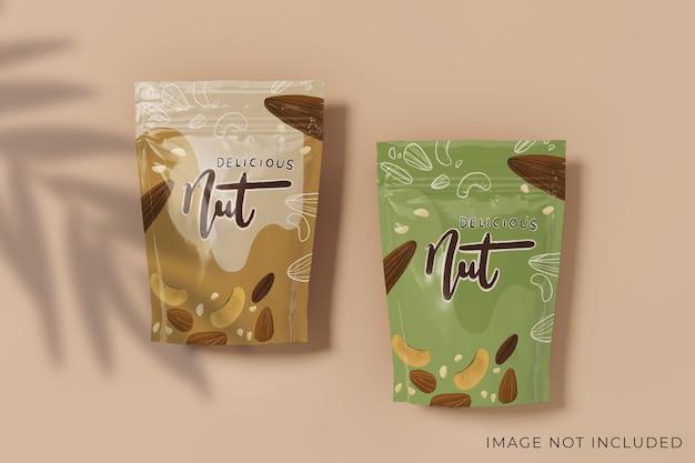 Design mockup di packaging per due prodotti modificabile